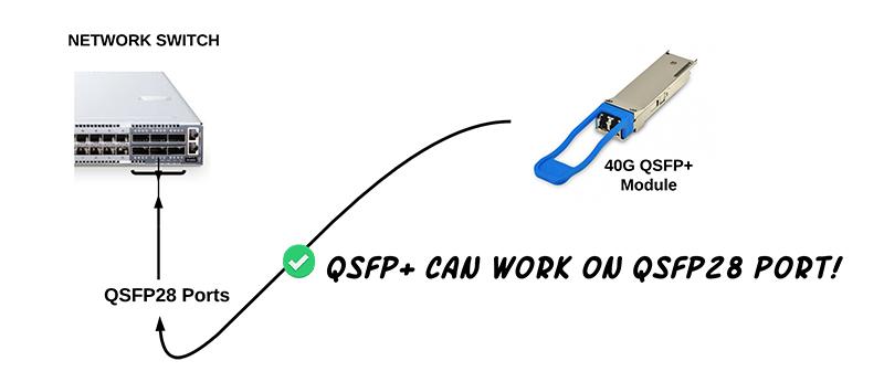 Können QSFP Transceiver in QSFP28 Ports verwendet werden