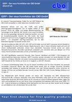 QSFP - The new form factor of the CBO GmbH