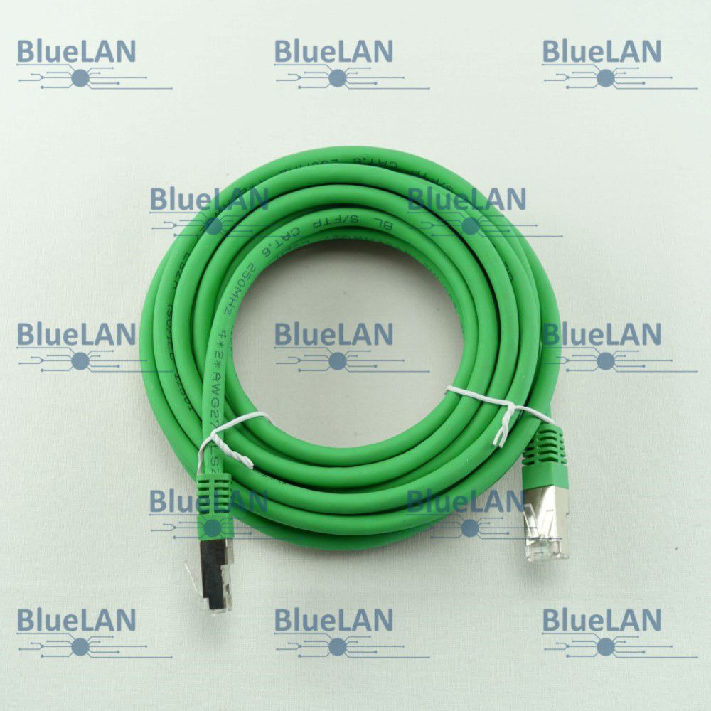 SCP33SFR1N7XM BlueLAN cat6 s ftp twisted pair tp rj45 patchkabel lszh gruen