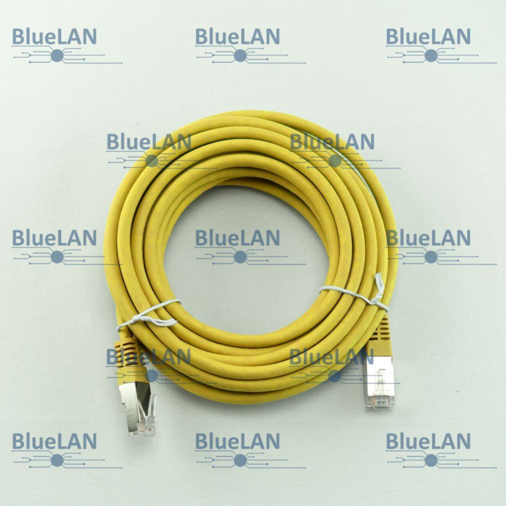 SCP33SFUR1Y6XM BlueLAN cat5e sf utp twisted pair tp rj45 patchkabel lszh gelb