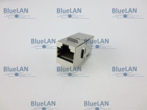 BlueLAN© CAT6 Snap-In Kupplung, 2x RJ45, geschirmt, 250MHz, EN50173-1, 8-polig