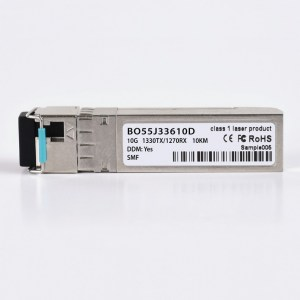 BO55J33610D - BlueOptics© Bidi SFP+ 10Base-BX-D, TX1330nm/RX1270nm, 10KM, optischer Transceiver