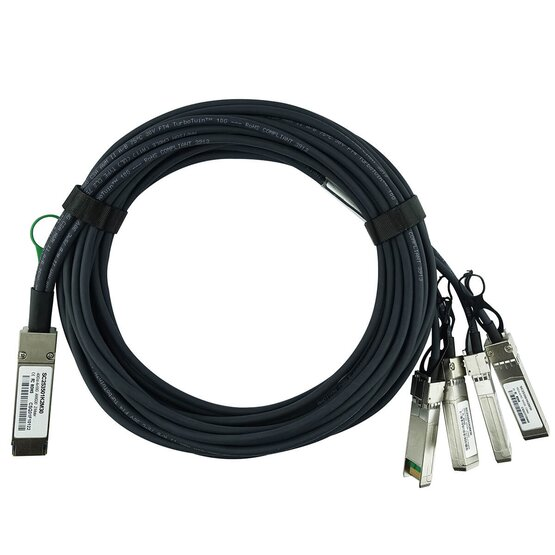 to 4xSFP H3C Compatible LSWM1QSTK3 40G QSFP 1m Breakout Twinax Cable